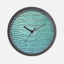 Faux Crocodile Skin graphic Wall Clock