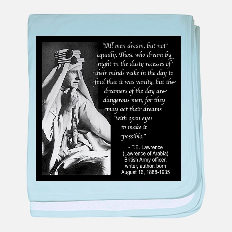 Lawrence Dream Quote baby blanket