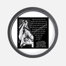 Lawrence Dream Quote Wall Clock