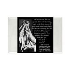 Lawrence Dream Quote Rectangle Magnet