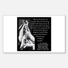 Lawrence Dream Quote Sticker (Rectangle)