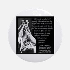 Lawrence Dream Quote Ornament (Round)