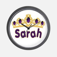 Princess Tiara Sarah Personalized Wall Clock