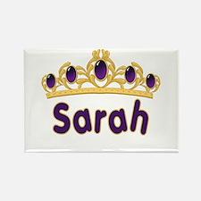 Princess Tiara Sarah Personalized Rectangle Magnet