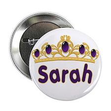 Princess Tiara Sarah Personalized Button