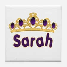 Princess Tiara Sarah Personalized Tile Coaster