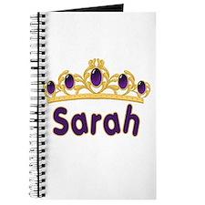 Princess Tiara Sarah Personalized Journal