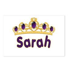Princess Tiara Sarah Personalized Postcards (Packa