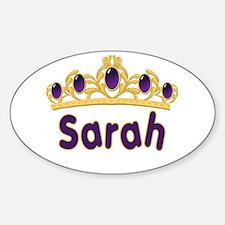 Princess Tiara Sarah Personalized Oval Decal