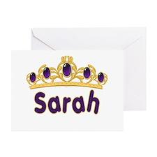 Princess Tiara Sarah Personalized Greeting Cards (