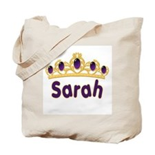 Princess Tiara Sarah Personalized Tote Bag