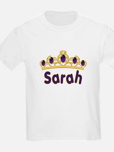 Princess Tiara Sarah Personalized Kids T-Shirt