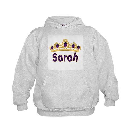 Princess Tiara Sarah Personalized Kids Hoodie