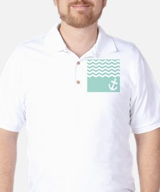 Mint green anchor and chevron T-Shirt
