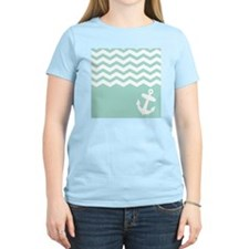 Mint green anchor and chevro T-Shirt