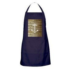 Anchor on Faux wood Apron (dark)
