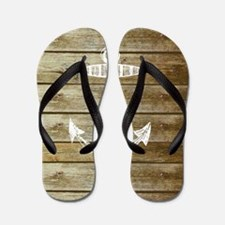 Anchor on Faux wood Flip Flops