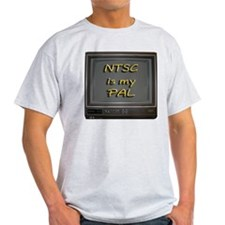 NTSC is my PAL Ash Grey T-Shirt