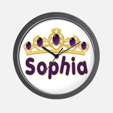 Princess Tiara Sophia Personalized Wall Clock