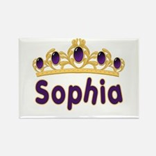 Princess Tiara Sophia Personalized Rectangle Magne