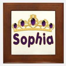 Princess Tiara Sophia Personalized Framed Tile