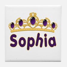 Princess Tiara Sophia Personalized Tile Coaster