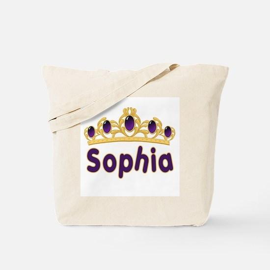 Princess Tiara Sophia Personalized Tote Bag