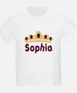 Princess Tiara Sophia Personalized Kids T-Shirt