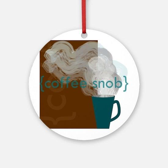 Coffee Snob Ornament (Round)