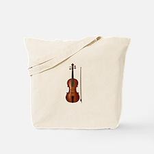 violin and bow Tote Bag
