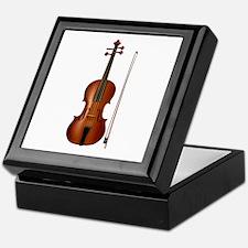 violin and bow Keepsake Box