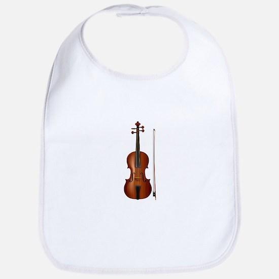 violin and bow Bib