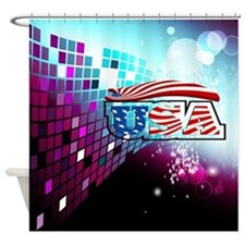 USA Flag, Shower Curtain