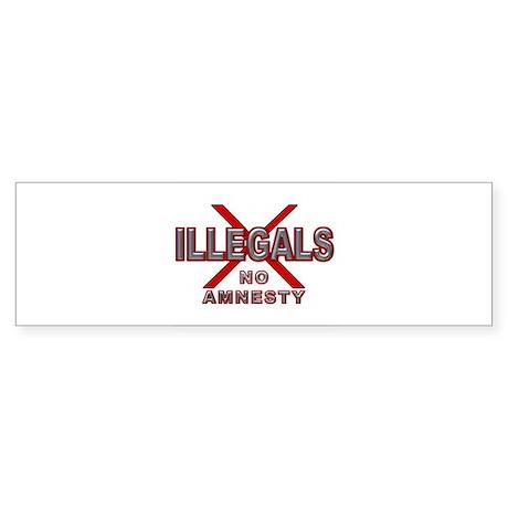 D21 Illegals X mx2 - No Amnesty v3 - 4 WHT Bumper