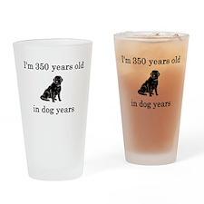 50 birthday dog years lab Drinking Glass