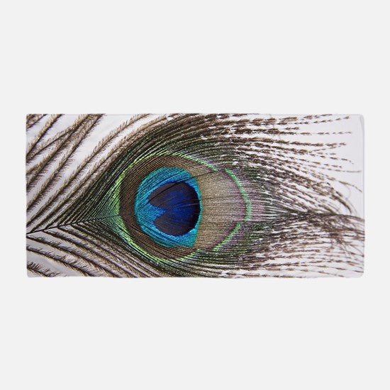beautiful peacock feather Beach Towel