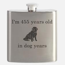 65 birthday dog years lab Flask
