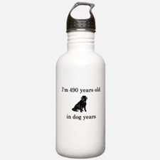 70 birthday dog years lab Water Bottle