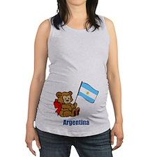 Argentina Teddy Bear Maternity Tank Top