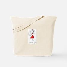 """I Love You"" Sign Language Tote Bag"