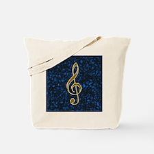 Golden Treble Clef Tote Bag