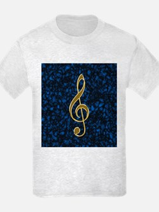 Golden Treble Clef T-Shirt