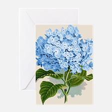 Blue hydrangea flowers Greeting Card