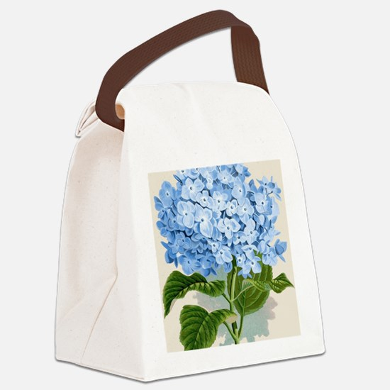 Blue hydrangea flowers Canvas Lunch Bag