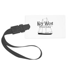 Key West Sailing Black Luggage Tag