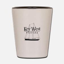 Key West Sailing Black Shot Glass
