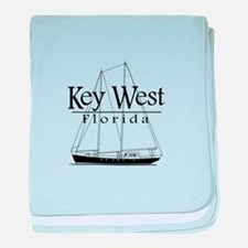 Key West Sailing Black baby blanket