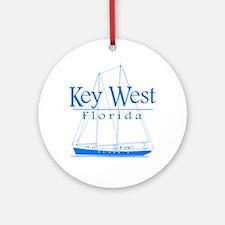 Key West Sailing Blue Ornament (Round)