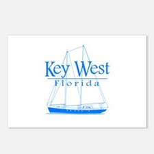 Key West Sailing Blue Postcards (Package of 8)