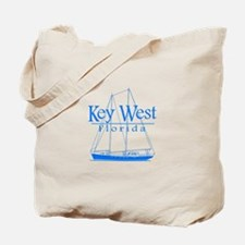 Key West Sailing Blue Tote Bag
